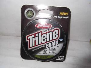 "BERKLEY Trilene, Pro Grade ""Low-Vis"" Green Braided Fishing Line; 50LB, 300 Yards"