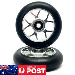 2 x 100mm ALLOY GR!ND STUNT SCOOTER WHEELS ABEC 9 BEARINGS (V3) - FREE POST