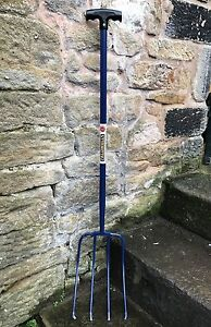Caldwells 4 Prong / Tine Manure Fork - Tubular Steel - Muck out, Stable
