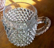 Pointed Hobnail Cup.  Doyle Glass Thumbprint Pattern