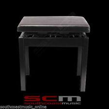 BRAND NEW CASIO HEIGHT ADJUSTABLE PIANO KEYBOARD BENCH STOOL BLACK PBBK