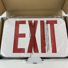 Exit Sign Ledrbb Jr Double Faced Red Letters Light Fixture Battery Backup New