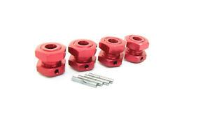 Arrma TYPHON 4x4 3s BLX - 17mm RED Aluminum wheel HEX HUBS Nuts ARA4306V3
