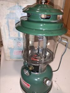 COLEMAN Lantern 220H 9/73 BUNDLE, Storage Safe, Box, Coleman Pyrex Glass