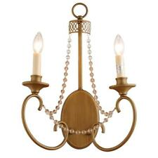 Hampton Bay Estelle 2 Light Fixture Wall Sconce Lamp 361763 Champagne