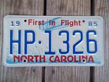 1985 North Carolina Highway Patrol License Plate HP-1326 First in Flight Metal