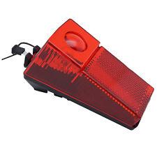 Fahrrad Rückleuchte für Dynamo mit Reflektor, Kabel - Rücklicht rot Fahrradlampe