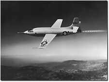 "Chuck Yeager - Bell X-1 in Flight - 8"" x 10"" B&W Photo"