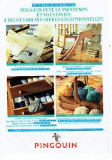 Publicité Advertising 038  1994     les laines  collants  chaussettes Pingouin