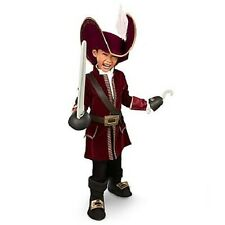 CAPTAIN Hook COSTUME~Jacket+Pant+Dickie+HAT+SWORD+HOOK~7/8 M~NWT~Disney Store