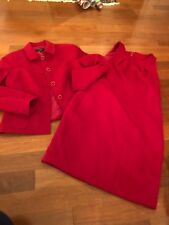 Talbots 14p Red Jacket And Dress
