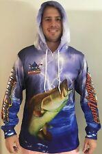 New Killer Crank Tournament Fishing Shirt With Hood. All Mens Sizes +Kids 6 & 12