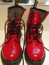 Doc Doctor Martens Martins red patent boots Size UK 4