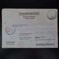 LETTRE PRISONNIER GUERRE COURS DES COMPTES -> STALAG IV F KRIEGSGEFANGENENPOST