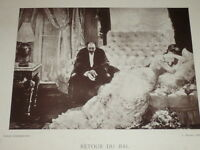 [VINTAGE PHOTOGLYPTIE] H.GERVEX Peinture (Retour Bal) GALERIE CONTEMPORAINE 1878
