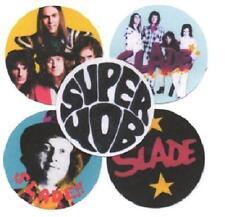 5 SLADE  BADGES. 70's pop, glam rock, Noddy Holder.