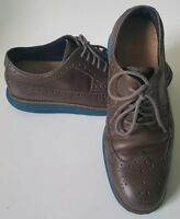 COLE HAAN LUNARLON WINGTIP OXFORD BROWN SIZE 9.5
