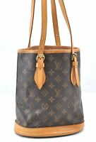 Authentic Louis Vuitton Monogram Bucket PM Shoulder Bag M42238 LV B1496