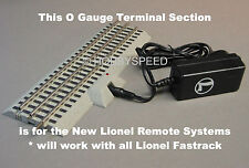 "LIONEL O GAUGE FASTRACK 10"" STRAIGHT POWER SUPPLY PACK RC LIONCHIEF SYSTEM track"
