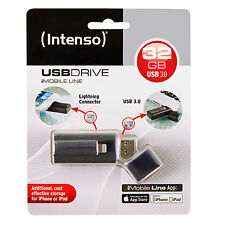CLE INTENSO USB 3.0 32Go POUR PC+ APPLE IPHONE IPAD IPOD et connecteur lightning