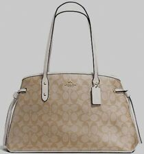 New Coach 57842 Drawstring Carryall Signature PVC handbag Light Khaki / Chalk