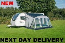 New 2018 Sunncamp Swift 390 Deluxe Caravan Porch Awning Plus Rear Upright Pads