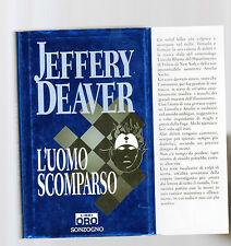 l uomo scomparso - jeffery deaver  - sottocosto 5 euro - febrvsesx