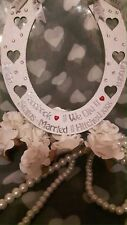 Wedding Horseshoe Quirky Facebook Instagram Status Update Gift For The Bride