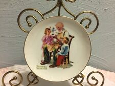 """Norman Rockwell Collector 6 1/2"""" Plate- """"The Toymaker"""" 1984"""
