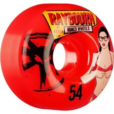 "New Set of Four BONES STF Raybourn ""Phoebe"" V1 Skateboard Wheels (Red): 54mm"