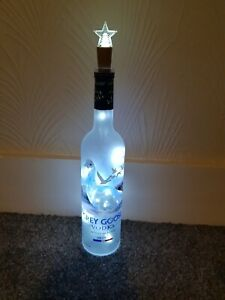 Grey Goose Vodka Bottle with White Lights 70cl - Empty