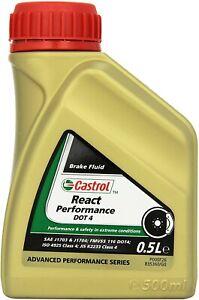 Castrol React Performance DOT4 Fluido Sintetico Impianti Frenanti 0.5l