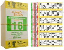750 LIBRI 6 pagina GIOCO strisce di 6 TV JUMBO Bingo biglietti foglio grassetto numeri