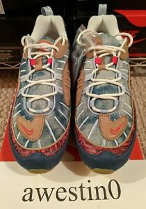 """DS Nike Air Max 98 LT Armory Blue/University Red """"Wild West"""" BV6045 400 Size 10"""