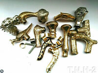 Victorian Brass Knob Antique Handle Style Vintage For Walking Stick Cane SET 14