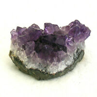 Uruguayan Dark Amethyst Quartz Crystal Cluster Natural Geode Section 80g 5.5cm