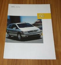 Catalogue OPEL ZAFIRA A de 2003