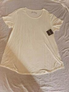 BNWT Eddie Bauer Women's Cream T Shirt Size L RRP £33