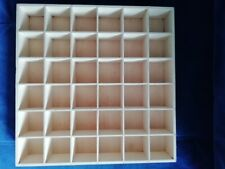 WOODEN 36 COMPARTMENT BOX TRAY