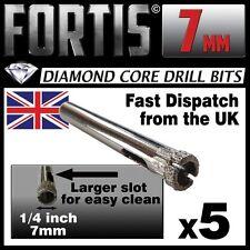 5 x 7mm Diamond Holesaw Tile, Ceramic, Glass, Porcelain, Marble, etc drill bits