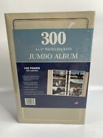 Vintage Photo Album 276 Photos -Was 300, Missing 6 Pages Holson New Beige & Gold