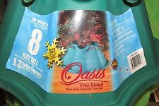 CHRISTMAS TREE STAND, OASIS, for trrees up to 8 ft holds 1.3 gallons, green