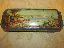 Large Antique Collectable Mc. Vitie & Price Edinburgh Tin