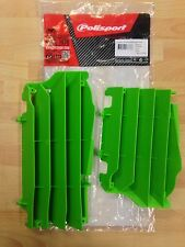 KAWASAKI KXF 450 KXF450 2016-2017 POLISPORT RADIATOR LOUVRES RAD GUARDS  GREEN