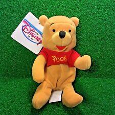NEW Disney Mini Bean Bag POOH Bear 8'' Winnie The Pooh Plush Toy - MWMT