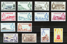GIBRALTAR 1953 DEFINITIVES SG145/158 MNH