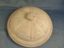 Vintage Crock pot lid cover domed design white unglazed replacement pottery art
