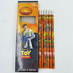 6 Toy Story Pencils Halloween Theme Disney Paper Magic Unsharpened Partial BoxOF
