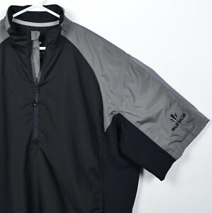 Sunice Typhoon Men's XL Half-Zip Black Gray Short Sleeve Windshirt Golf Jacket