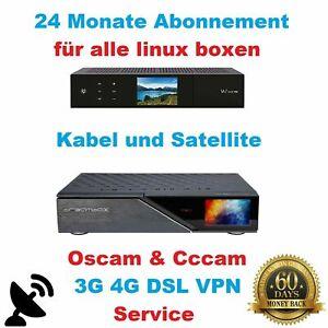 Abo Dreambox Gigablue & Vu+ Sat & Kabel 6+18 VPN  Monate nur 19,95€